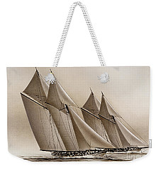 Racing Yachts Weekender Tote Bag