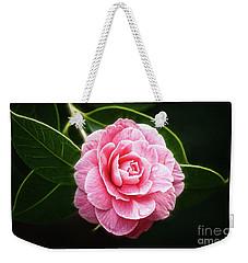 Radiant Camellia Weekender Tote Bag