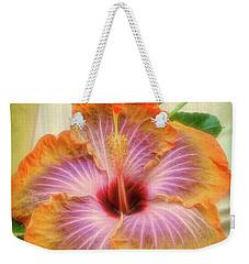 Radiant Hibiscus Weekender Tote Bag
