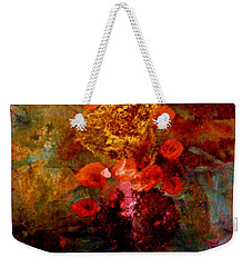 Radiant Red Weekender Tote Bag by Nancy Kane Chapman