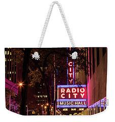 Radio City Music Hall And Tree Weekender Tote Bag