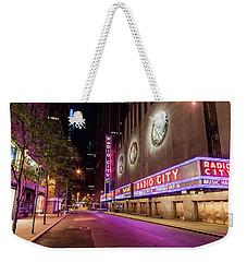 Radio City Music Hall At Night Weekender Tote Bag by John McGraw