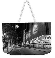 Radio City Music Hall Nyc Black And White  Weekender Tote Bag by John McGraw