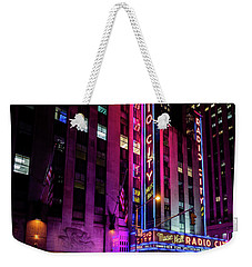 Weekender Tote Bag featuring the photograph Radio City Music Hall by M G Whittingham