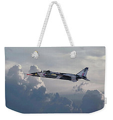 Weekender Tote Bag featuring the photograph Raf Jaguar Gr1 by Pat Speirs