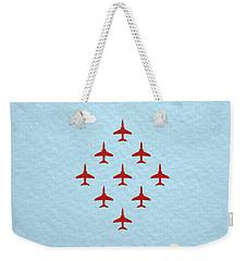 Raf Red Arrows In Formation Weekender Tote Bag