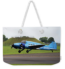 Raf Scampton 2017 - Avro Anson Nineteen During Take Off Weekender Tote Bag