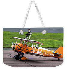 Raf Scampton 2017 - Breitling Wingwalkers At Rest Weekender Tote Bag
