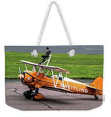 Raf Scampton 2017 - Breitling Wingwalkers At Rest Weekender Tote Bag