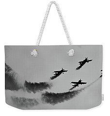Raf Scampton 2017 - Global Stars Loop Black And White Weekender Tote Bag