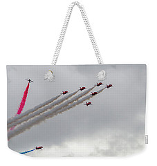 Raf Scampton 2017 - Red Arrows Tornado Formation Weekender Tote Bag
