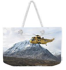 Weekender Tote Bag featuring the digital art Raf Sea King - Sar by Pat Speirs