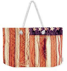 Ragged American Flag Weekender Tote Bag by Jill Battaglia
