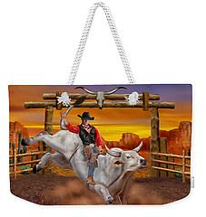 Ride 'em Cowboy Weekender Tote Bag