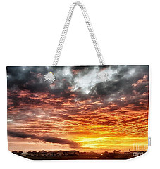 Raging Sunset Weekender Tote Bag
