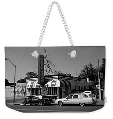 Weekender Tote Bag featuring the photograph Raifords Disco Memphis A Bw by Mark Czerniec
