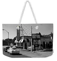 Weekender Tote Bag featuring the photograph Raifords Disco Memphis B Bw by Mark Czerniec