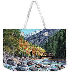 Rail Bridge At Cascade Weekender Tote Bag