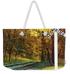 Rail Road Crossing To Neverland Weekender Tote Bag
