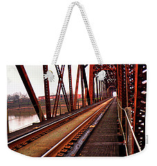 Weekender Tote Bag featuring the photograph Railroad 2 by Ester Rogers
