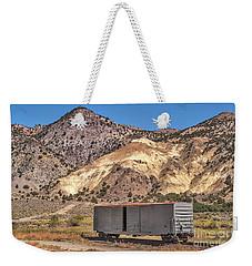 Railroad Car In A Beautiful Setting Weekender Tote Bag