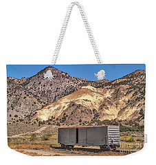 Weekender Tote Bag featuring the photograph Railroad Car In A Beautiful Setting by Sue Smith