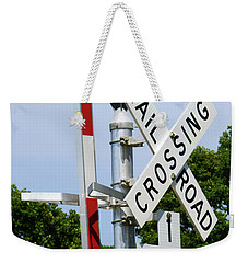 Railroad Crossing Weekender Tote Bag