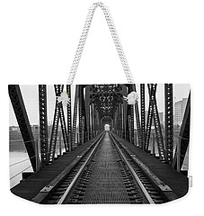 Weekender Tote Bag featuring the photograph Railroad by Ester Rogers