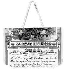 Railroad Official Directory  1893 Weekender Tote Bag