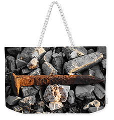 Railroad Spike Weekender Tote Bag