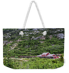 Weekender Tote Bag featuring the photograph Railroad To The Yukon by Ed Clark