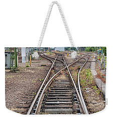 Weekender Tote Bag featuring the photograph Railroad Tracks And Junctions by Antony McAulay