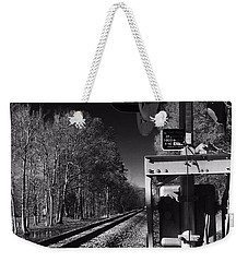 Railway 2 Black And White Weekender Tote Bag