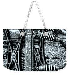 Weekender Tote Bag featuring the photograph Railway Detail by Wayne Sherriff