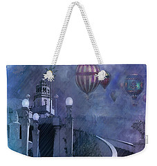 Rain And Balloons At Hearst Castle Weekender Tote Bag by Jeff Burgess