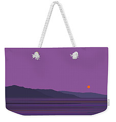 Rain At The Lake Vertical Weekender Tote Bag