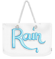 Weekender Tote Bag featuring the drawing Rain by Cindy Garber Iverson