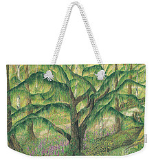 Rain Forest Washington State Weekender Tote Bag