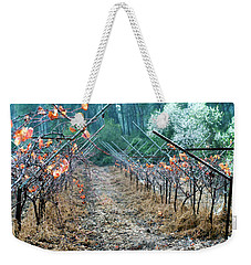 Rain In The Vineyard Weekender Tote Bag