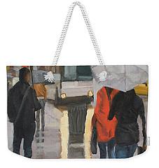 Rain In Midtown Weekender Tote Bag