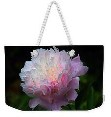 Rain-kissed Peony Weekender Tote Bag