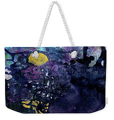 Rain On A Sunny Day - Colorful Dark Contemporary Abstract Weekender Tote Bag