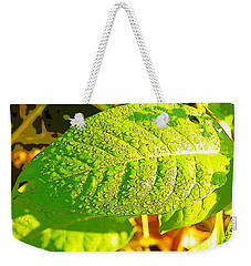 Rain On Leaf Weekender Tote Bag