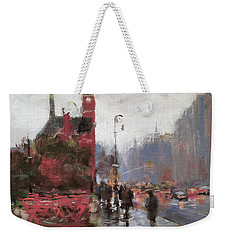 Rain On Sixth Avenue Weekender Tote Bag