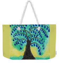 Rain Drop Umbrella Tree Weekender Tote Bag