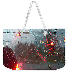 Weekender Tote Bag featuring the photograph Rain by Rhonda McDougall