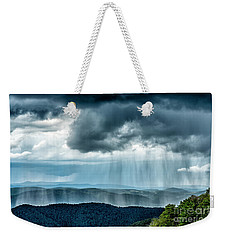 Weekender Tote Bag featuring the photograph Rain Shower Staunton Parkersburg Turnpike by Thomas R Fletcher