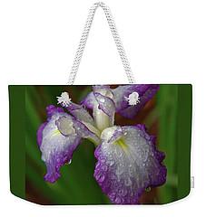 Rain-soaked Iris Weekender Tote Bag