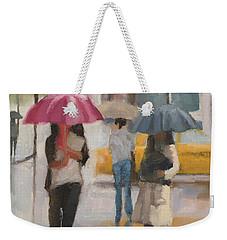 Rain Walk Weekender Tote Bag