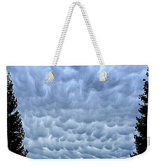 Rain Warning Weekender Tote Bag